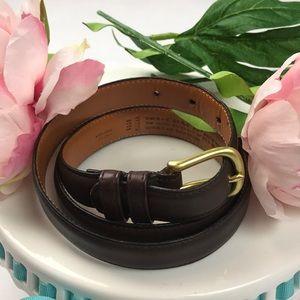Excellent condition Coach mocha leather belt